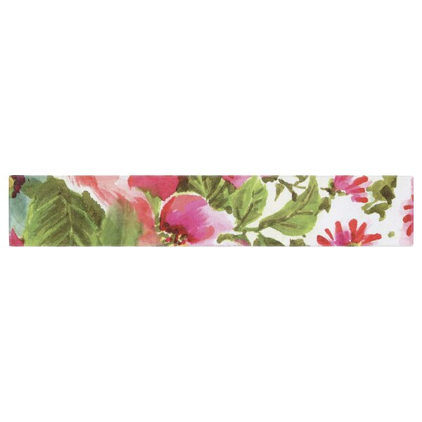 Heidi Jennings Walk Through the Garden Flowers Table Runner by East Urban Home