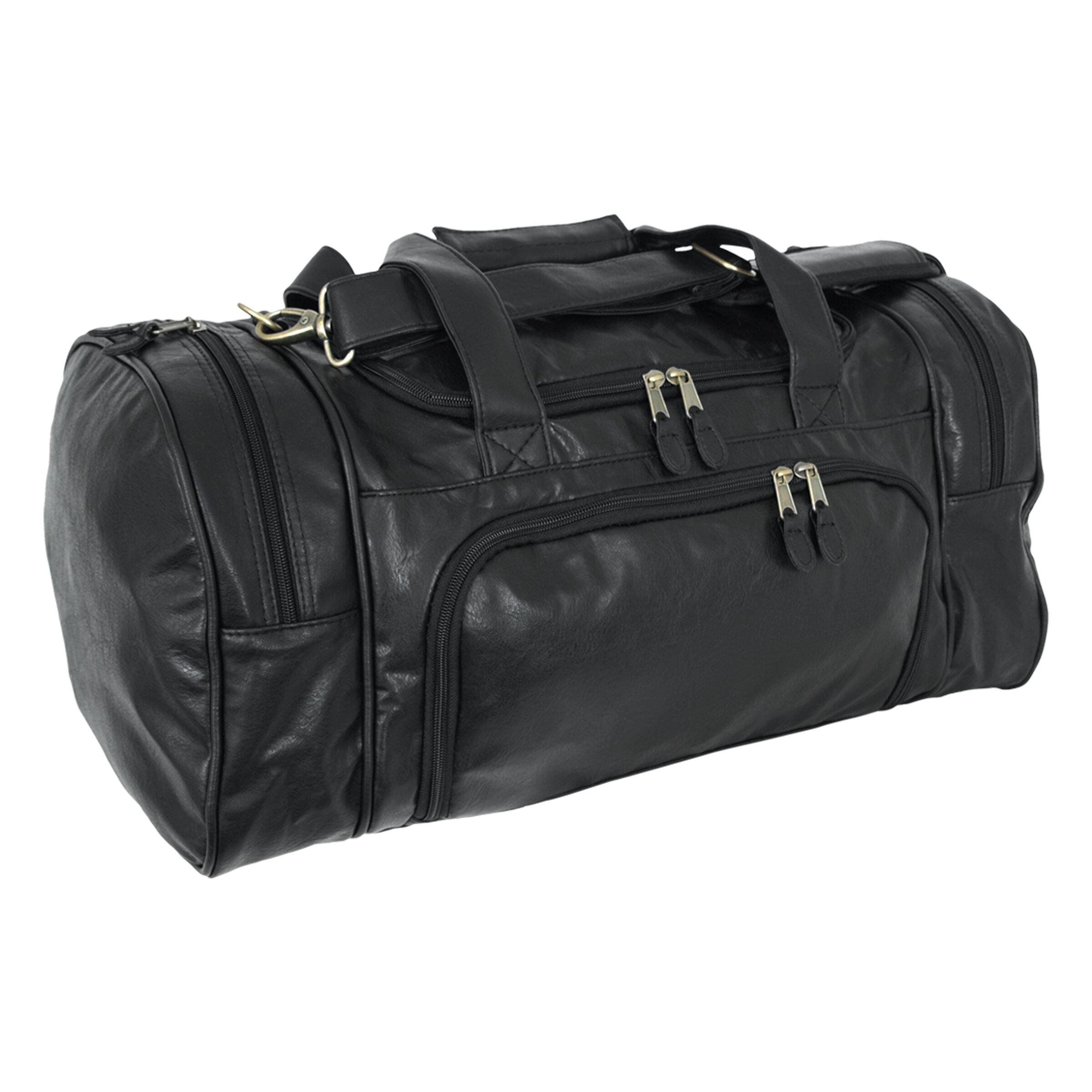 Amerileather APC Leather Duffel//Sports Bag,Black,US