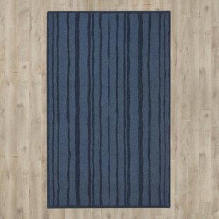 Freehand Stripe Hand-Loomed Wrought Iron Area Rug ByMartha Stewart Rugs