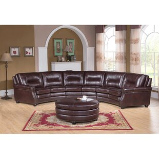 Ganya Leather Modular Sectional with Ottoman by Red Barrel Studio