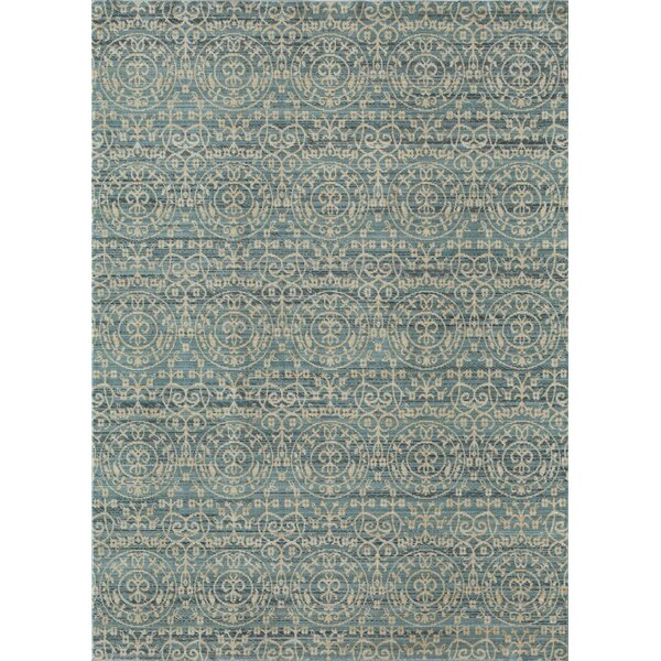 Asteria Blue/Gold Area Rug by Rugs America