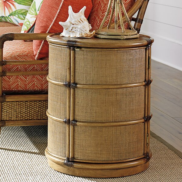 Twin Palms End Table with Storage by Tommy Bahama Home