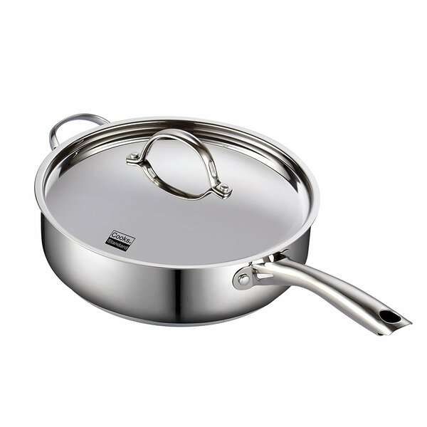 Classic 5 qt. Stainless Steel Saute Pan with Lid by Cooks Standard