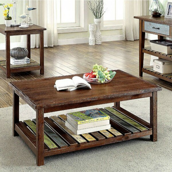 Weatherall Country Coffee Table with Storage by Millwood Pines