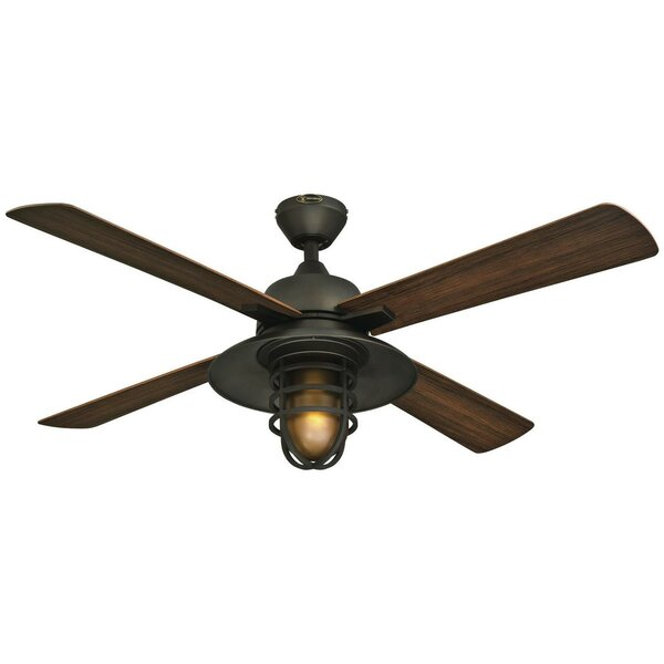52 Roselle One-Light 4 Blade Ceiling Fan by Loon P