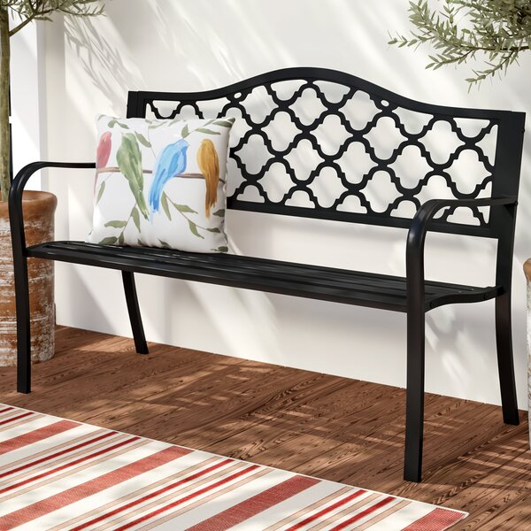 Stripling Outdoor Lattice Patio Cast Iron Garden Bench by Charlton Home