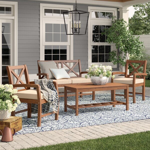 Tim 4 Piece Sofa Seating Group with Cushions by Birch Lane™ Heritage