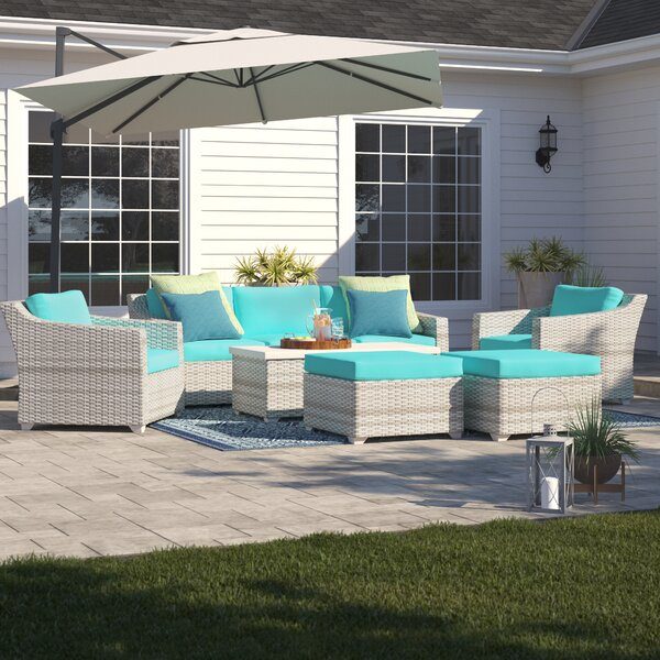 Falmouth 8 Piece Rattan Sofa Seating Group with Cushions by Sol 72 Outdoor