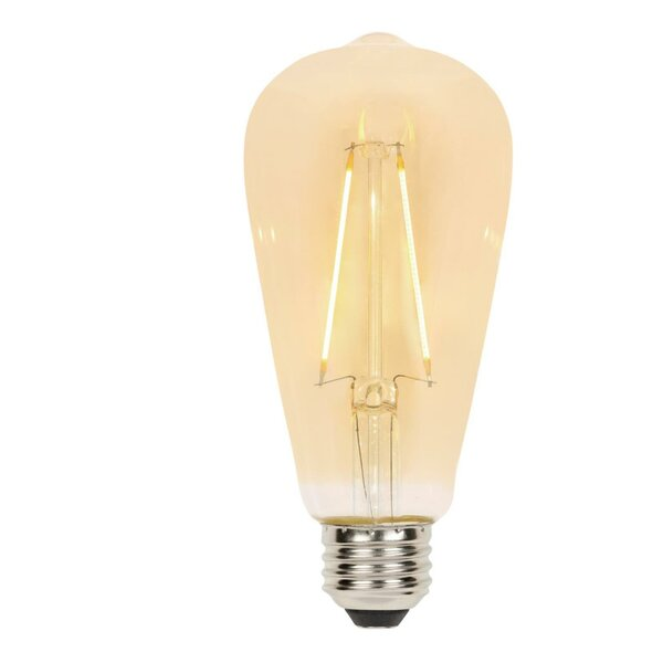 E26 Dimmable LED Edison Light Bulb Amber (Set of 6) by Westinghouse Lighting