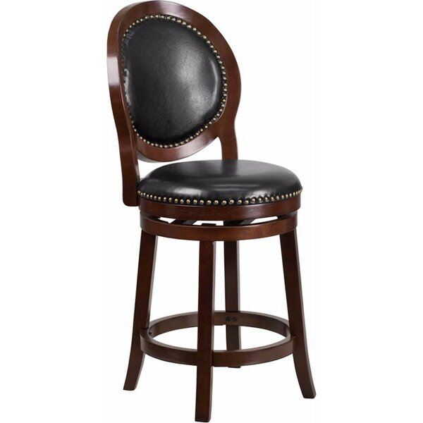 Jeremiah 26.5'' Swivel Bar Stool by Darby Home Co