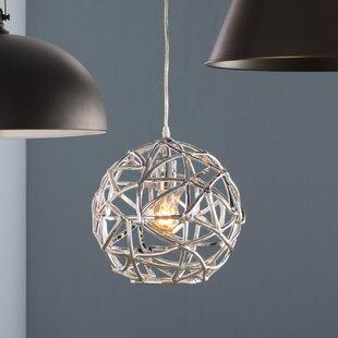 Globe pendant lights youll love wayfair hinnenkamp 1 light pendant aloadofball Gallery