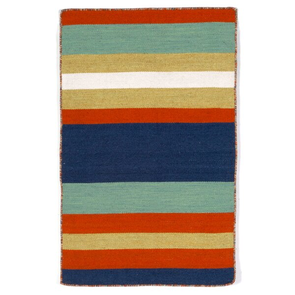 Ranier Hand-Woven Multi-Colored Indoor/Outdoor Area Rug by Beachcrest Home