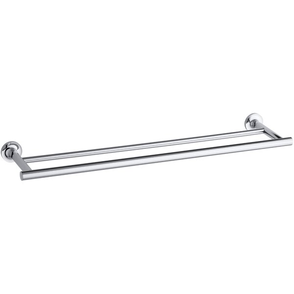 Purist Double 24 Wall Mounted Towel Bar by Kohler