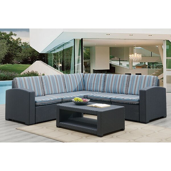 Marie 6 Piece Sectional Seating Group with Cushions by Highland Dunes