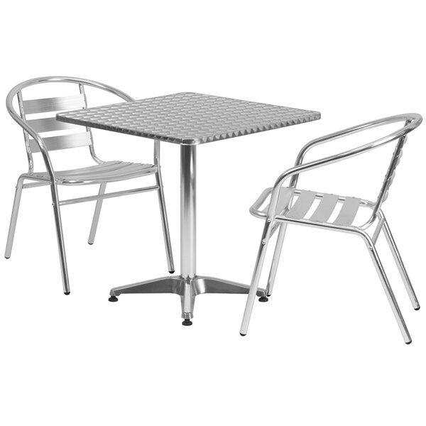 Lucius Square Indoor Outdoor 2 Piece Bar Height Dining Set by Ebern Designs
