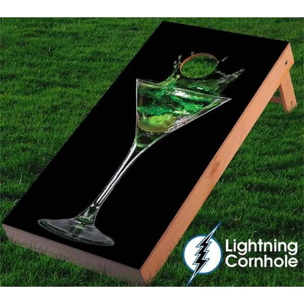 Martini Cornhole Board by Lightning Cornhole