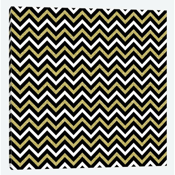 Small Bling Chevron Graphic Art on Wrapped Canvas by Mercer41