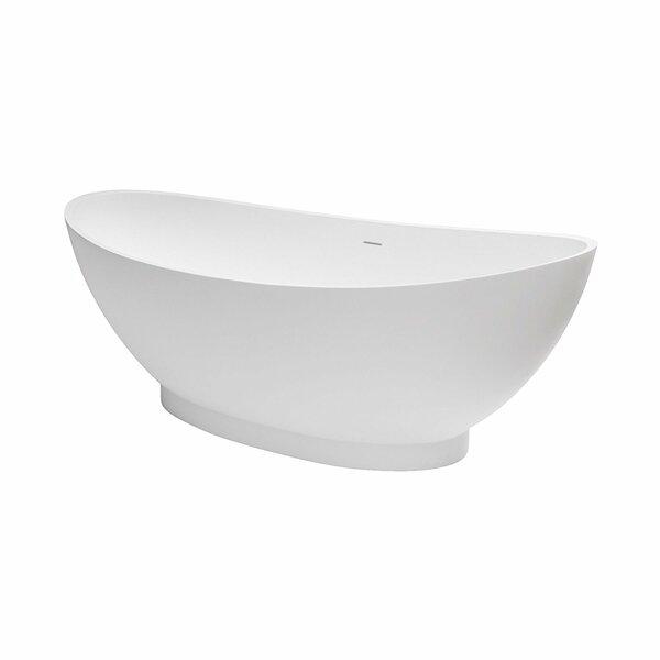Brooks Solid Surface 70 x 35 Freestanding Soaking Bathtub by Maykke