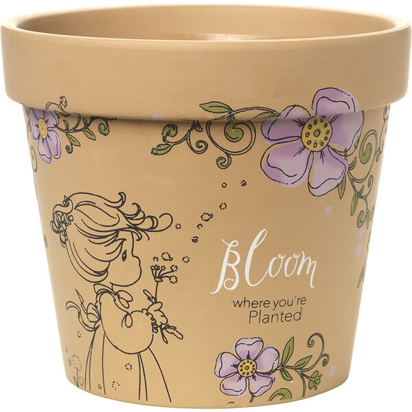 Bloom Where You're Planted High Yard Décor Terracotta Pot Planter by Precious Moments