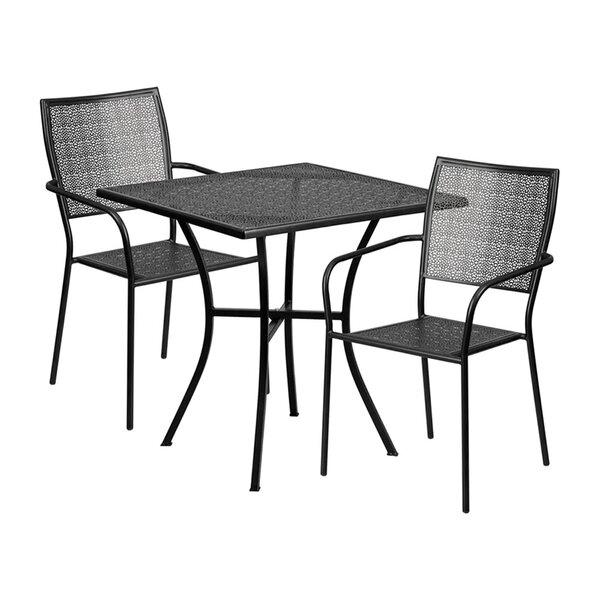 Speier Outdoor Steel 3 Piece Dining Set by Winston Porter