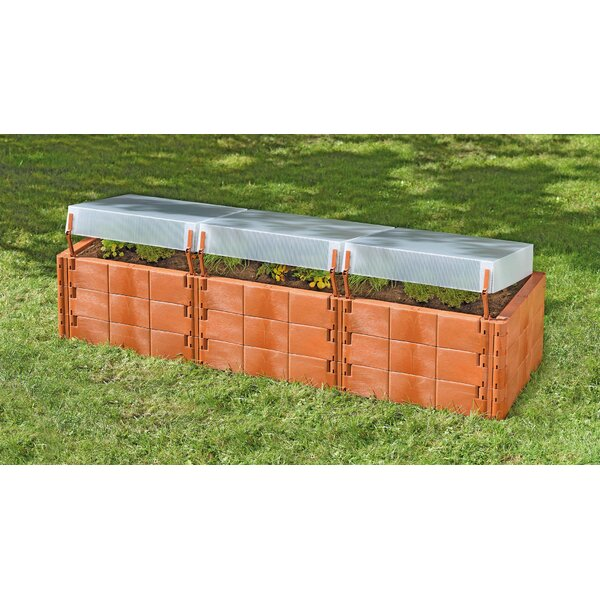 Triple Box 2 ft. x 6.25 ft. Polycarbonate Raised Garden Planter by Juwel