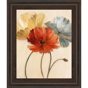'Poppy Palette I' Framed Painting Print by Andover Mills