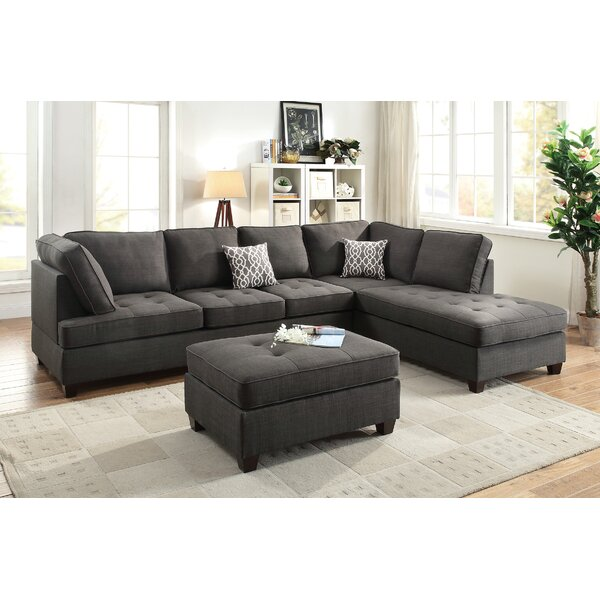 Web Order Allenhurst Right Hand Facing Sectional with Ottoman by Charlton Home by Charlton Home