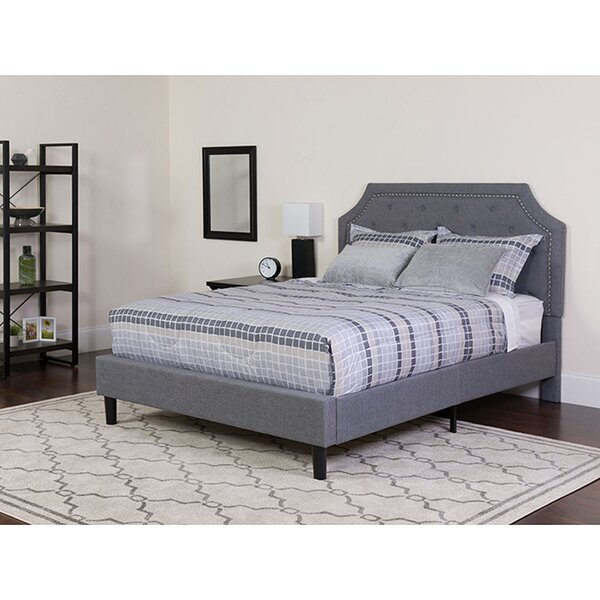 Carley Upholstered Standard Bed with Mattress by Charlton Home