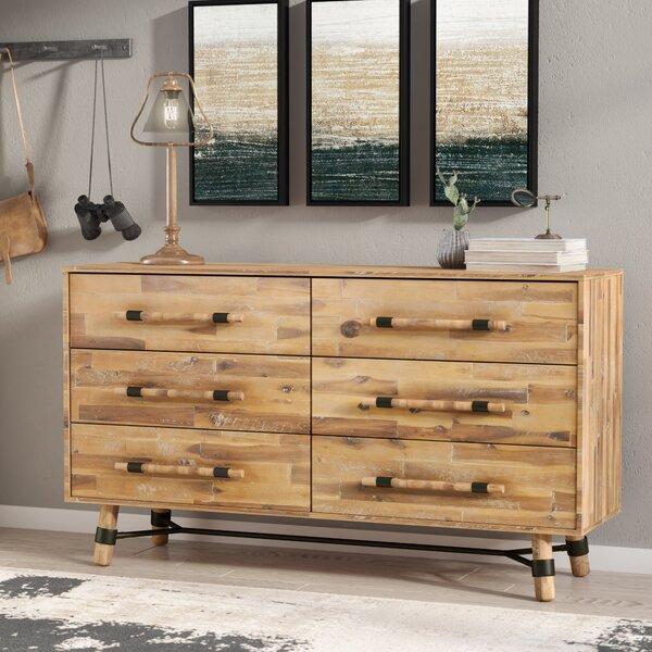 Treyton 6 Drawer Double Dresser by Mistana