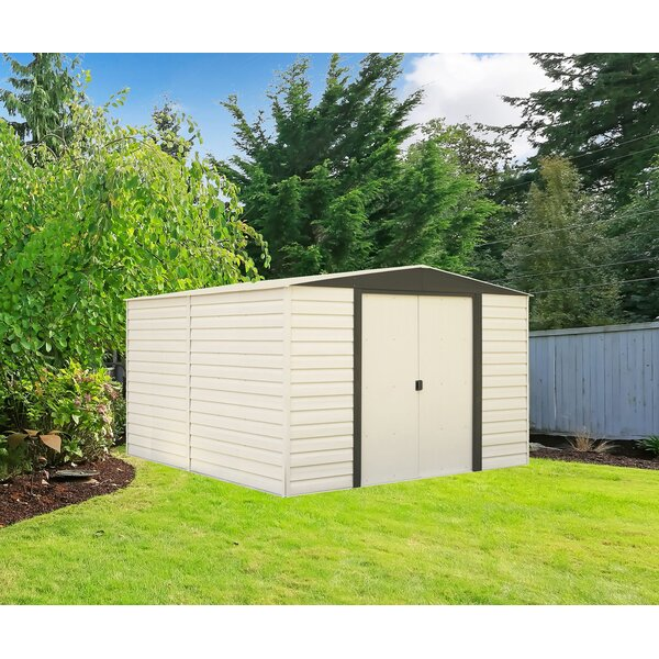 Dallas 10 ft. 3 in. W x 12 ft. 2 in. D Metal Storage Shed by Arrow