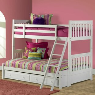 Compare prices Portia Twin over Full Bunk Bed with Trundle By Viv + Rae