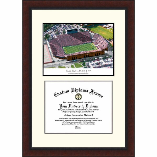 NCAA Iowa Hawkeyes: Kinnick Stadium Legacy Scholar Diploma Picture Frame by Campus Images