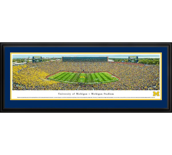 NCAA Michigan, University of - Football - 50 Yard Line by James Blakeway Framed Photographic Print by Blakeway Worldwide Panoramas, Inc