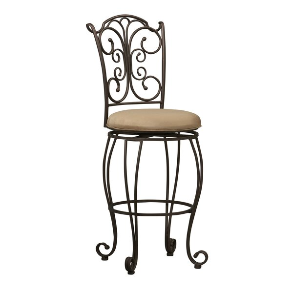 Meredith 30 Swivel Bar Stool by Fleur De Lis Living