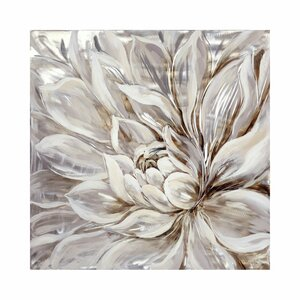 Snowy Bloom Painting Print on Canvas by Brayden Studio