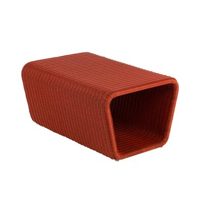 Jaramillo Outdoor Ottoman Finish: Red