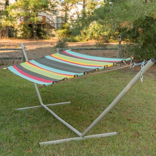 Josie Stripe Double Tree Hammock by Freeport Park
