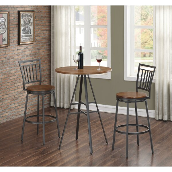 Pierce 3 Piece Pub Table Set by Wrought Studio