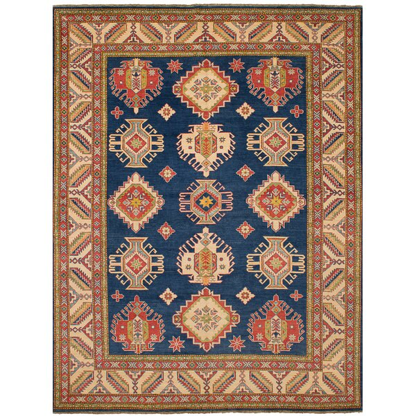 One-of-a-Kind Celyn Hand-Woven Wool Brown/Blue Area Rug by Isabelline