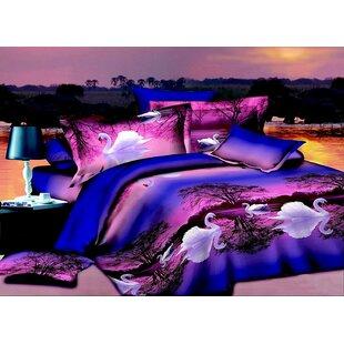 Swan 3D 4 Piece Sheet Set ByHomechoice International Group