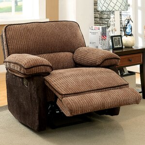 Denitze Chenille Recliner by Hokku Des..