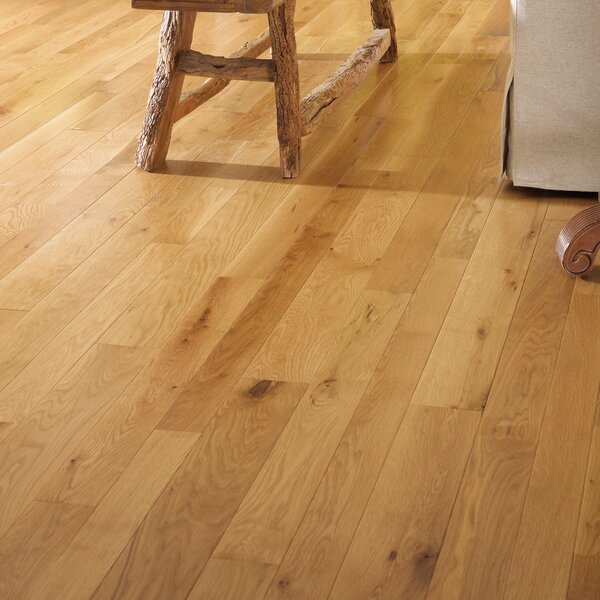 Character 5 Engineered White Oak Hardwood Flooring in Natural by Somerset Floors