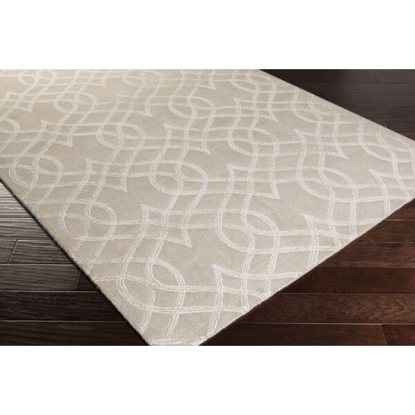 Armas Hand-Tufted Light Gray Area Rug by Wrought Studio