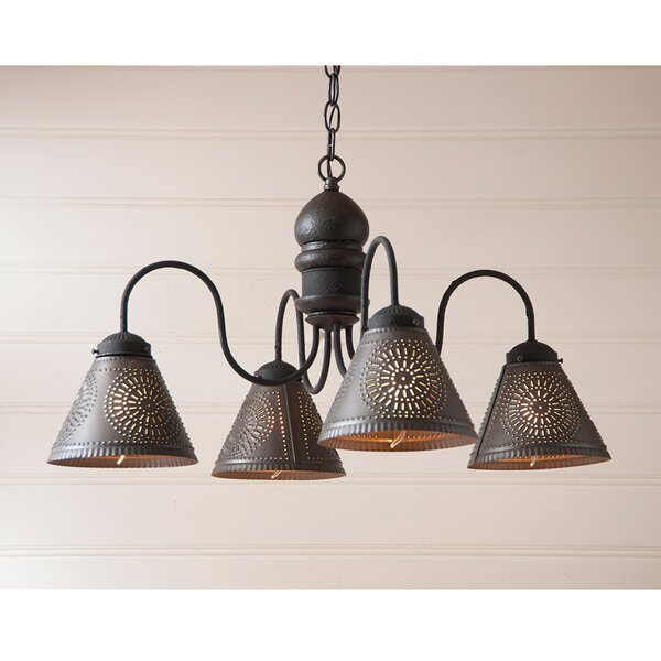 Whitmore 4 - Light Shaded Classic Chandelier By Gracie Oaks
