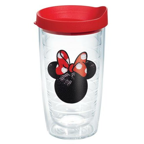 Disney Minnie Mouse Sequins Plastic Every Day Glass by Tervis Tumbler