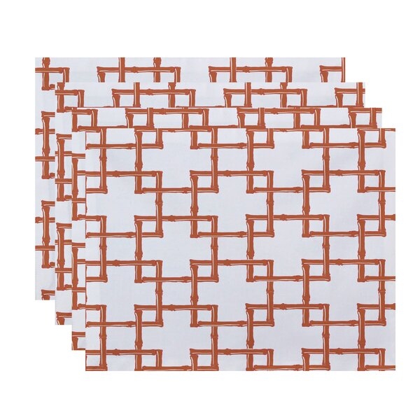 Connelly Bamboo 2 Geometric Placemat (Set of 4) by Bay Isle Home