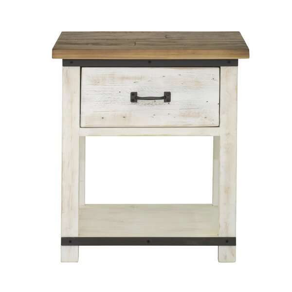Coonrod 1 Drawer Nightstand by Gracie Oaks