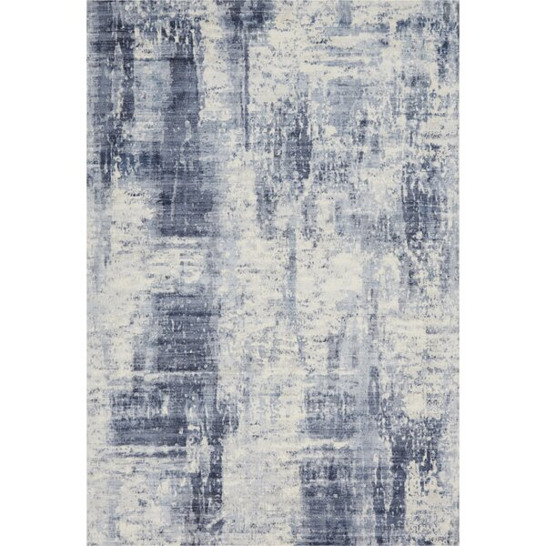 Mcgill Modern Abstract Hand-Woven Blue Area Rug by Kathy Ireland Home