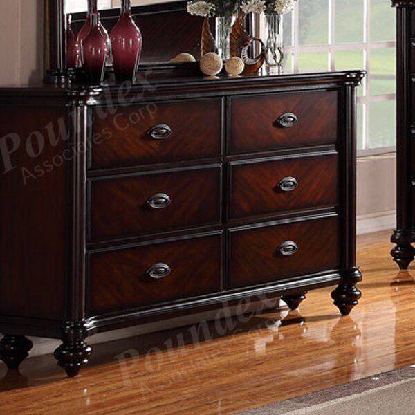 Harriet 6 Drawer Double Dresser by Charlton Home
