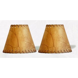 Compare & Buy 6 Faux Leather Empire Clip-on Candelabra Shade with Trim (Set of 2) By Loon Peak